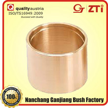 wear-resisting oil free wrapped bronze sliding bush