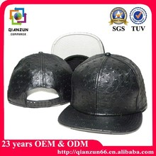 Fashion leather custom 2 tone blank snapback cap