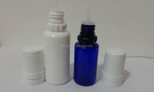 Plastic e-liquid bottle 10ml,15ml/new child proof and tamper ring cap e-liquid bottle