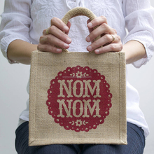Promotion jute tote bag shopping & packing bag wholesale with custom logo printed on