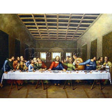 Handmade Famous classical reproduction oil panting on canvas,The Last Supper-Leonardo Da Vinci