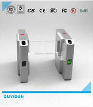 Remote control wing turnstile with fingerprint access control system
