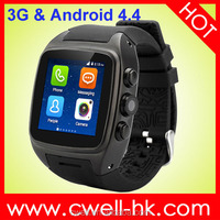wearable wrist phone waterproof 512mb/4gb ce rohs iso kids smart watch mobile phone android