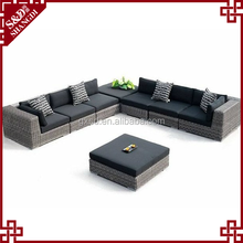 hand-weave antique outdoor sofa furniture L shape rattan sofa