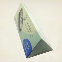 Triangle facial tissue box