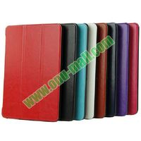 High quality with reasonable price 3-folding Crazy Horse Texture leather smart cover case for amazon kindle fire hdx 8.9