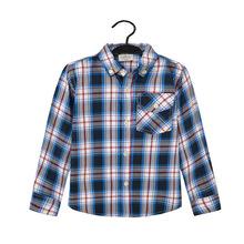 BYM 918 boy checked shirt, boy plaid shirt