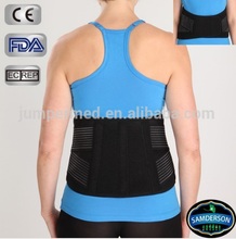 LU-2201 CE certificated adjustable neoprene lumbar support brace belt/abdominal support corset