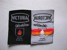 Certifired fire retardant woven label for firefighter uniform