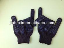 PVC Grip dots cotton glove for workers safety cotton gloves with pvc dot
