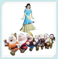 Snow White and Seven Dwarfs Garden Statue