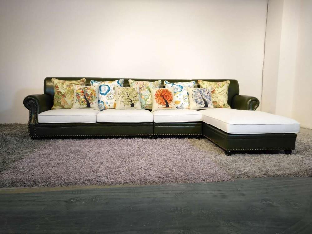 2017 mais recente novo design moderno sofá de canto tecido xyn8000 ...