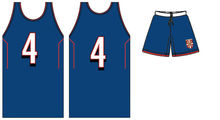 professional basketball uniform with custom number