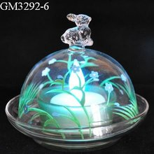 Wholesale glass candle holder/easter decoration/glass decoration