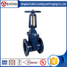 ductile iron rising stem gate valve pn16