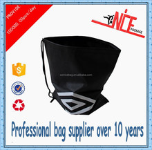 2015 customized China promotional black non-woven bag with drawstring for gift