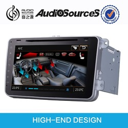 Car dvd player for skoda/vw/seat with 4.0 bluetooth +wince 6.1+door cue display +RDS+DSP digital turner ajustment