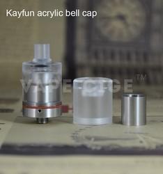 2015 new various colourful acrylic kayfun bell cap mini bell cap wholesale