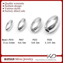 XD P010-028 Factory direct sale 925 sterling silver oval bead