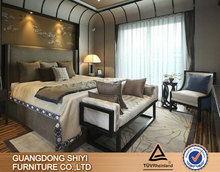 hotel bed room furniture set/high quality solid wood furniture/french furniture