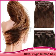 2015 Fashion Clip In Hair Remy Straight Unprocessed Brazillian Human Hair
