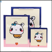 2015 yiwu high quality color paper bag picture paper bag cute rabbit