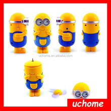 UCHOME New Portable Electrica Cartoon Usb Mini Fan Despicable Me Minions Mini Handy Mini Electric Fan