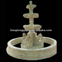 Garden 3 Tier Marble Water Fountain with Lion Head