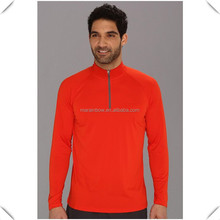 Men's custom performance breathable Golf Long Sleeve 1/4 quarter Zip Pullover wholesale, sports and gym 1/4 zipper tops