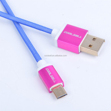 Mesh Micro USB Charger Cable 1.5M Braided Nylon 5pin V8 Data Sync Charging Cord For Samsung S5