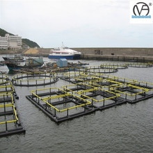 100% Raw Material high density,high intensity Polyethylene, assembled tilapia fish farming floating cage in ghana