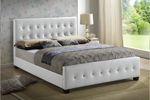 Pink leather headboard double bed,wave leather bed