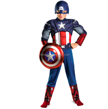 CO16 Hot Sale Captain America Costumes Child Costumes Boy Halloween Costume