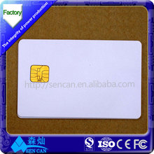 2014 Hot Sell blank contact rewritable plastic smart card with SLE4442 chip