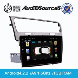 9018 for VW Golf Double din Wholesale Dvd with Canbus WIFI SWC IPAS OPS 1.6G CPU 1G RAM Gps navigation