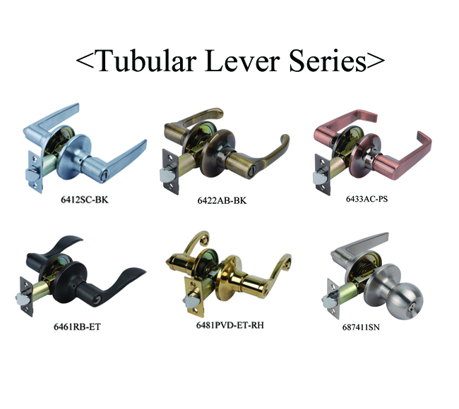 6411tubular Lever Set Locks Door Lever Handle Lock In