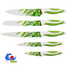 chinese wholesale kitchen knife set with wood block