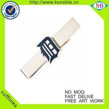 Custom wholesale metal crafts nickle tie bar/tie clips