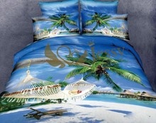 Latest design summer use 3d bed cover set bed sheets wholesale