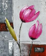 pinturas al óleo de flores decorativas