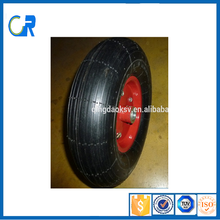 China factory pneumatic small rubber wheel 4.00-6