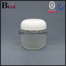 2015 newest hot cosmetic glass jars and metal lids, wholesale famcy cosmetic glass jars and black lids, frost cream jar glass