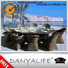 DYDS-D9823 Danyalife Hot Selling Garden Set Plastic Wicker Outdoor Table and Chair Set