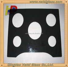 4mm Float Black Machinable Glass Ceramic For Chef Cooktops Glass And Gas Cook Tops Can Be Cut Holes