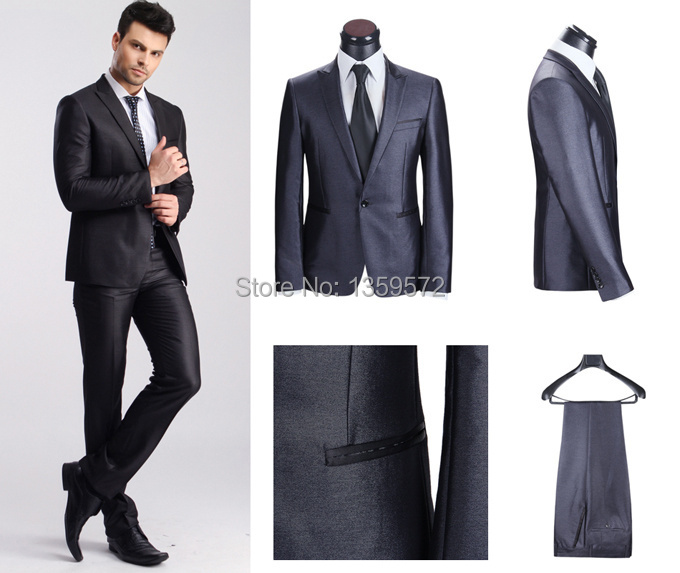 Slim Homme 2014 Hommes Costumes Slim Fit