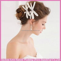 WC0036 New fashion top quality hot sale wholesalers popular beauty top ladies' butterfly crystal hair clip
