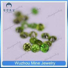 precious round shape natural diopside for jewelry