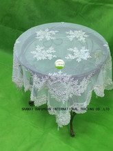 white sequins and beads table cloth