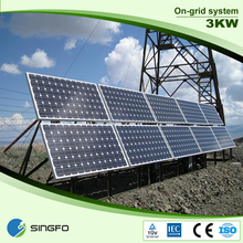 solar system with 250W/300W Monocrystalline solar panels price For Home and Commercial Use