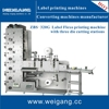 ZBS- 450G New one color / multicolor flexo printing machine with three die cutting and slitting stations for sale